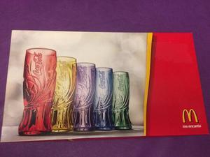 Juego De Vasos De Colección Mcdonald Coca Cola