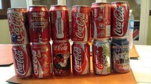 Lote 12 Latas Coca Cola De Argentina Y Brasil