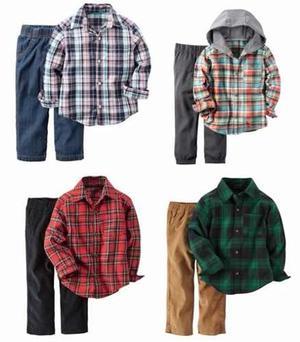 Set Carters Camisa Pantalon Bebe Varon Nuevo 9 A 24 Meses