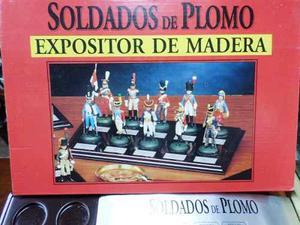 Set X 10 Soldados De Plomo Napoleonicos Con Base De Madera