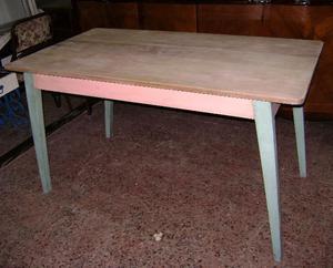mesa retro de pino macizo estilo campo