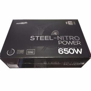 Fuente Sentey 650w 80 Plus Gamer Steel Nitro Single Rail 54a