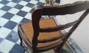 Mesa estilo provenzal mas seis sillas