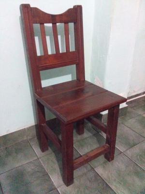 Vendo sillas de algarrobo.