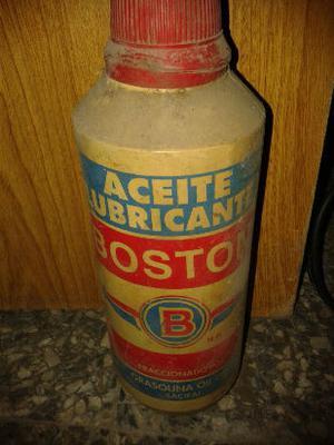 antiguo envase plástico aceite boston (para camión)
