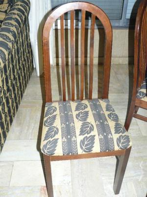 juego comedor, mesa y 6 sillas