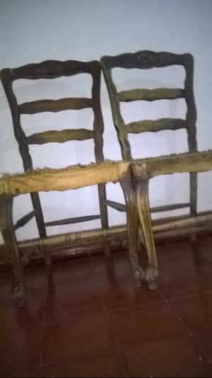2 sillas de madera - Provenzal -antiguas