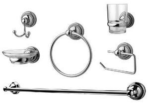 Accesorio Kit Set Baño 6 Piezas Cromo Y Cristal Oferta!