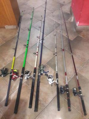 Vendo 7 Impecables Equipos de Pesca