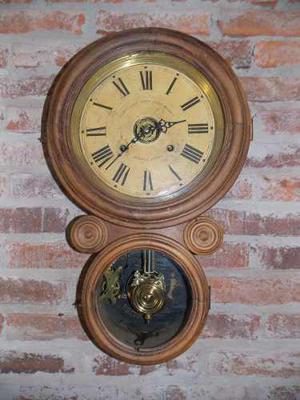 Antiguo Reloj De Pared Ingraham Made In Usa Despertador