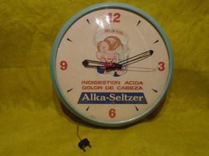 Antiguo Reloj Pared De Publicidad