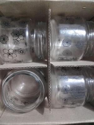 Frascos de vidrio sin tapa
