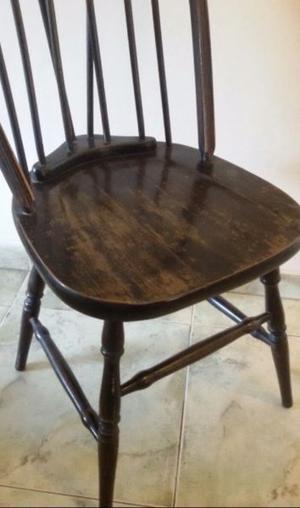 Sillas windsor $ c/u madera maciza roble antiguas (consultar