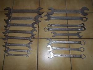 Lote 16 llaves Bahco estriadas fijas combinadas mm y