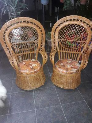 vendo sillones de mimbre modelo claudia