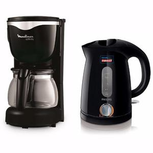 Combo Pava Eléctrica Philips 1.2 Lts. + Cafetera Moulinex