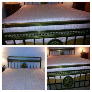$ Excelente cama antigua de bronce angeles