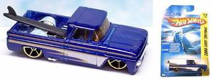 Hot Wheels Custom 62 Chevy Pickup Blu  Solo Envios