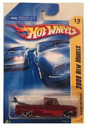 Hot Wheels Custom 62 Chevy Pickup Red  Solo Envios