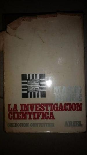 """Libro """"La investigacion cientifica"""" de Mario Bunge"""