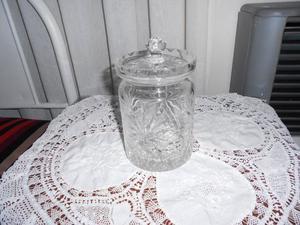 espectacular potiche de cristal tallado