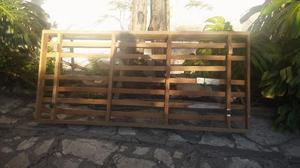 Cama con tirantes de madera. 1 plaza