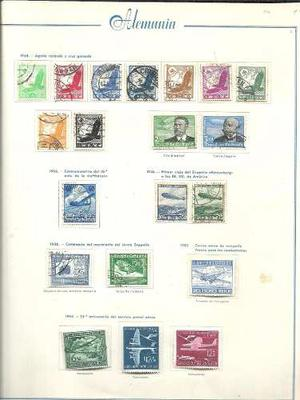 Coleccion De Estampillas Aereas De Alemania Mint Y Usadas