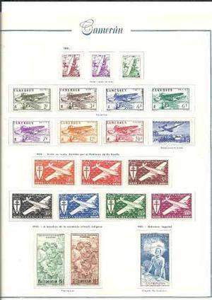Coleccion De Estampillas Aereas Mint De Colonia De Camerun