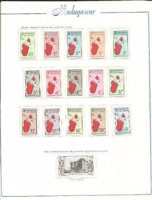 Coleccion De Estampillas Aereas Mint De Colonia Madagascar