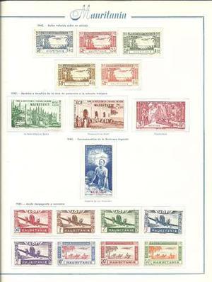 Coleccion De Estampillas Aereas Mint De Mauritania Y Niger