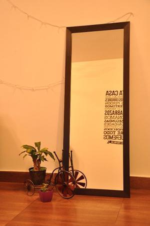 Espejo Con Marco De Madera 180 X 60 Cm