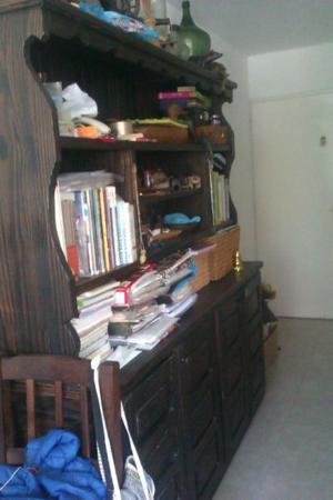 Biblioteca modular de madera