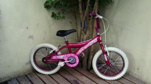 Bicicleta Barbie Rodado 16 Excelente Estado Y Lista!!