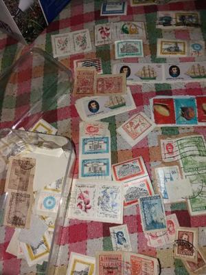 Colección de 400 estampillas