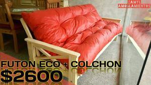 FUTON ECO CON COLCHÓN