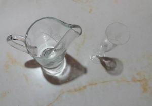 Juego Copas + Jarra de Cristal
