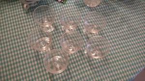Juego de copas antiguo