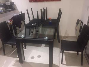 Juego de mesa y sillas de lujo