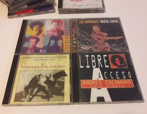 Lote de 4 CDs Originales de A. Calamaro y Los Rodriguez.