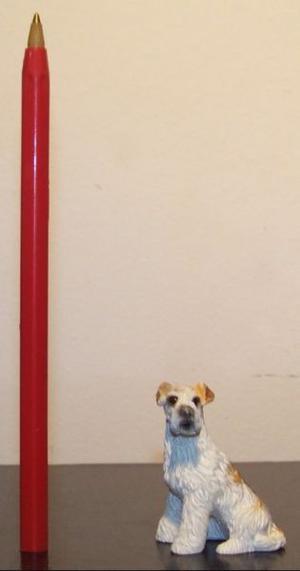 Perro miniatura, escala 1:12, casa de muñecas