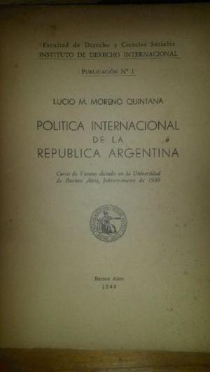 Politica internacional de la republica argentina