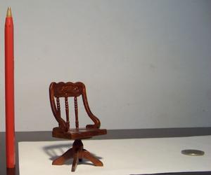 Sillón escritorio miniatura, escala 1:12, casa de muñecas