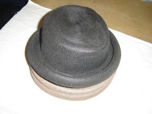 3 sombrero de mujer de hilo de plastico