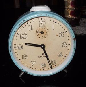 Antiguo Reloj Despertador Retro A Cuerda Junghans Funciona!
