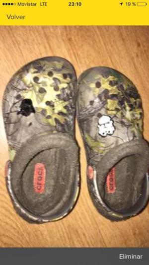 Crocs Con Peluche Para Niños- Nro 29 Impecables!!!