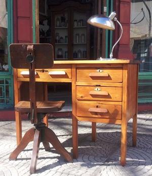 Mesa de telefono esquinero de pino lustrado posot class - Escritorio de pino ...