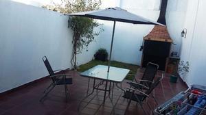 Juego de Jardín mesa rectangular, 6 sillas y sombrilla