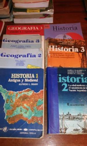 LIBROS DE HISTORIA Y GEOGRAFIA