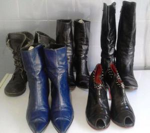 Lote de botas, borcegos y botinetas. $600!!