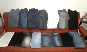 Lote de jeans de mujer.